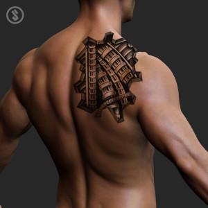 artslaves-biomechanical-splinter-human-back